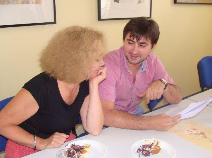 Prof. dr. Genovaitė Kačiuškienė su savo studentu Dmitry